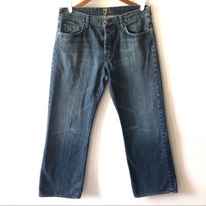 7 for all Mankind relax fit button fly denim jeans